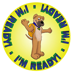 Ready, a personified Chinook puppy who is the mascot for New Hampshire Homeland Security and Emergency Management.